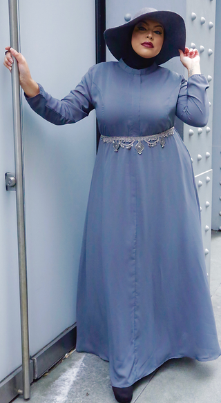 Slate Grey Aisha Dress - Styled by Zubaidah
