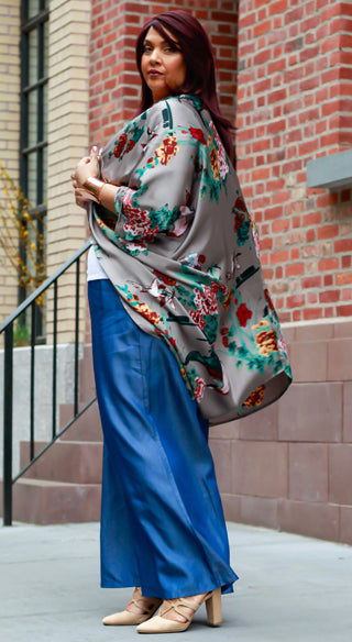 Birds of a feather Cocoon Kimono - Styled by Zubaidah