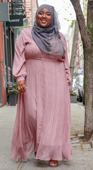 Mauve Lynn Dress - Styled by Zubaidah