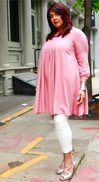 Rose Umbrella Tunic - Styled by Zubaidah