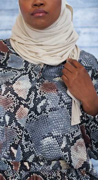 Python Faux Wrap Blouse - Styled by Zubaidah