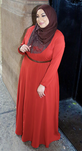 Brick Red Aisha Dress - Styled by Zubaidah