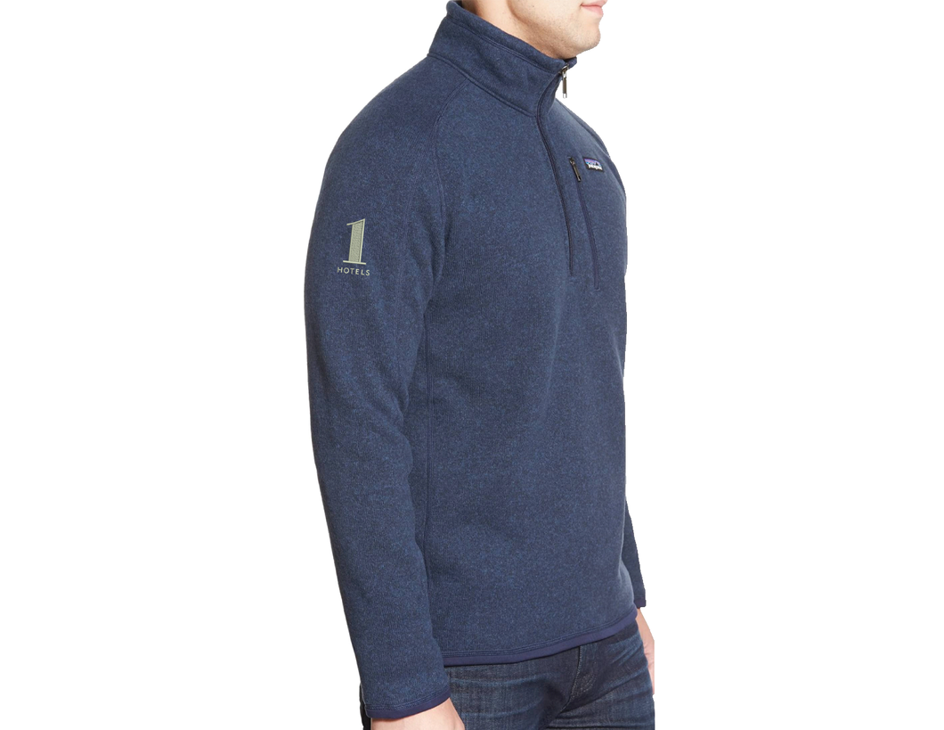 1 Hotels Navy Quarter Zip Patagonia