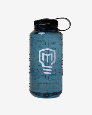 Logo 32 oz Wide Mouth Nalgene - Blue