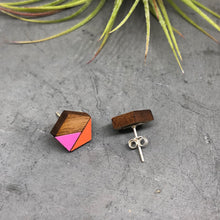Load image into Gallery viewer, Pink Pentagon Studs V