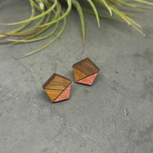 Load image into Gallery viewer, Rose Gold Pentagon Studs