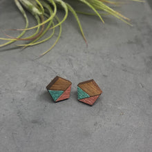 Load image into Gallery viewer, Retro Pentagon Studs