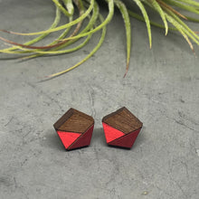 Load image into Gallery viewer, Red Pentagon Studs