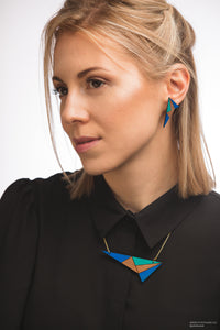 Turquoise & Blue Lightning Necklace