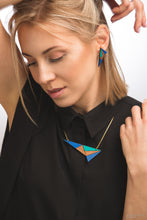 Load image into Gallery viewer, Turquoise & Blue Lightning Necklace