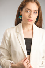 Load image into Gallery viewer, Arch Geo Statement Earrings in Turquoise