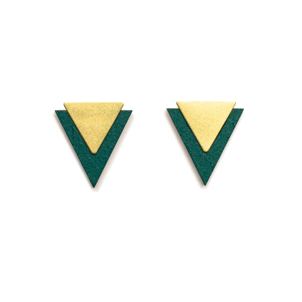 Forest Green Arrow Studs
