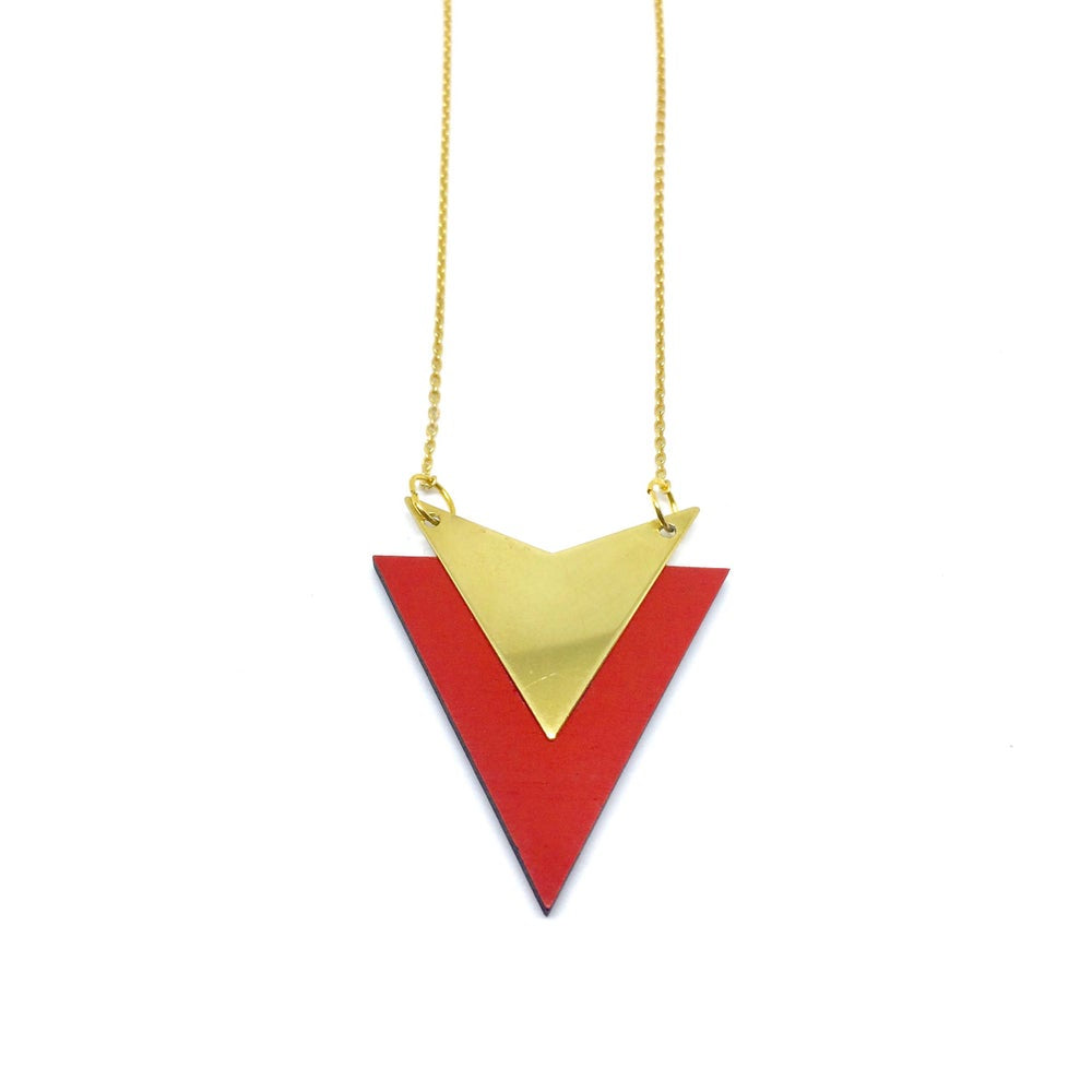 Red arrow necklace