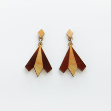 Load image into Gallery viewer, Aurora geometric statement earrings
