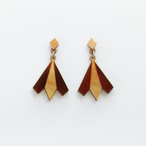 Aurora geometric statement earrings