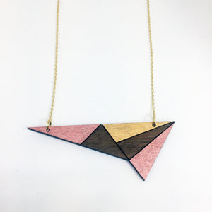 Rose Gold Shimmery Lightning Necklace