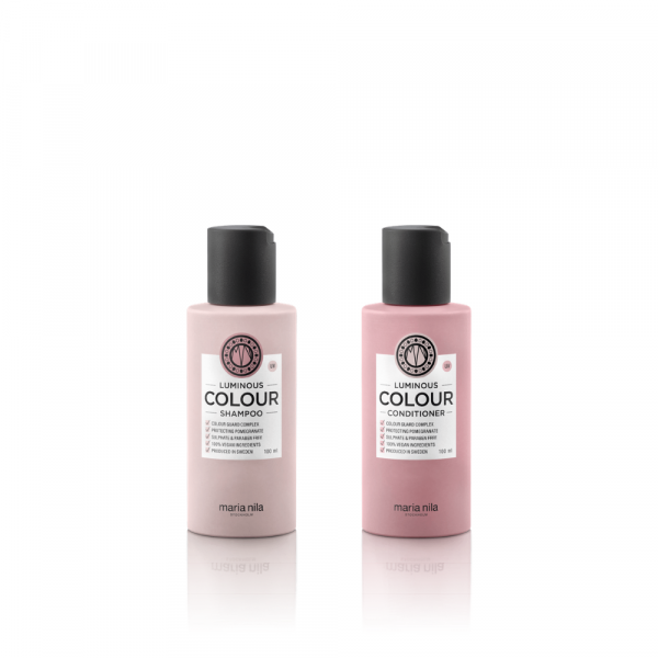 Maria Nila Luminous Colour Travel Set (Shampoo + Conditioner)
