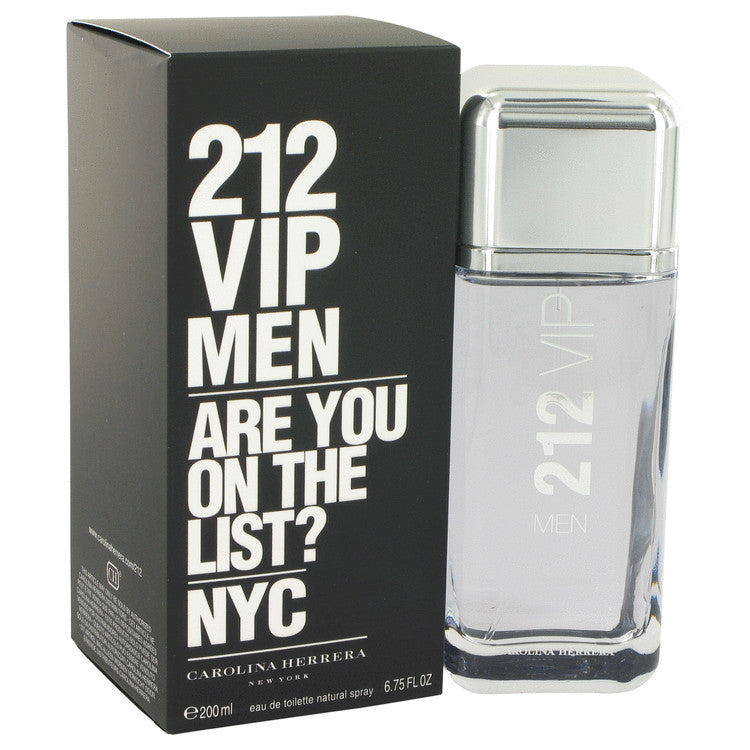 212 Vip by Carolina Herrera Eau De Toilette Spray 6.7 oz for Men-Beauty & Fragrance-American Fragrance SHOP®