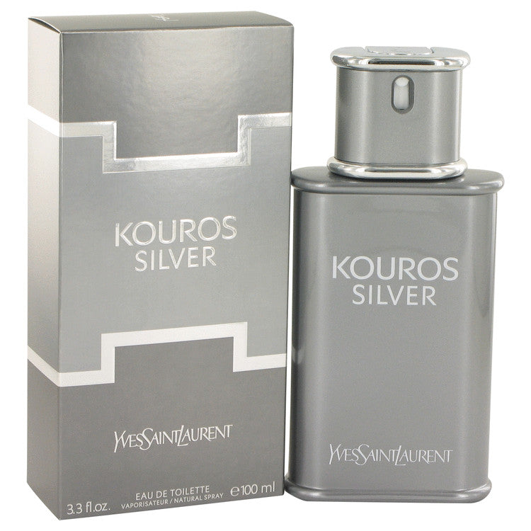 Kouros Silver by Yves Saint Laurent Eau De Toilette Spray 3.4 oz for Men-Fragrances for Men-American Fragrance SHOP®