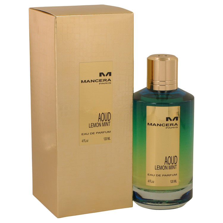 Mancera Aoud Lemon Mint by Mancera Eau De Parfum Spray (Unisex) 4 oz for Women-Fragrances for Women-American Fragrance SHOP®