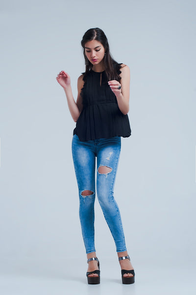 Distressed Skinny Jeans-Women's Fashion - Women's Clothing - Jeans-American Fragrance SHOP®