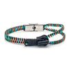 Thick Single Black and Multi Coloured Zipper Bracelet