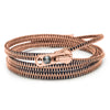Triple-Six Black and Rose-Gold Zipper Bracelet and Necklace in One