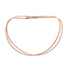 Triple-Six Peach and Rose-Gold Zipper Bracelet and Necklace in One