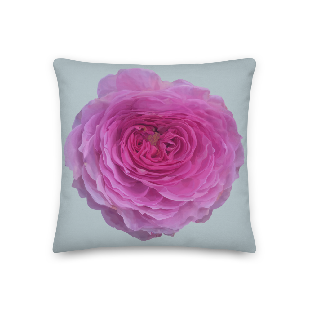 The Audrey Rose - Chalk Grey - Premium Pillow-Tiny Potager-18×18-Tiny Potager