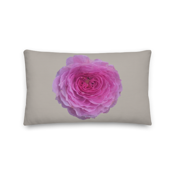 The Audrey Rose - French Grey - Premium Pillow-Tiny Potager-20×12-Tiny Potager