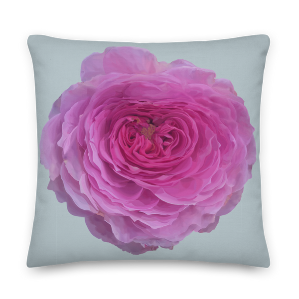 The Audrey Rose - Chalk Grey - Premium Pillow-Tiny Potager-22×22-Tiny Potager