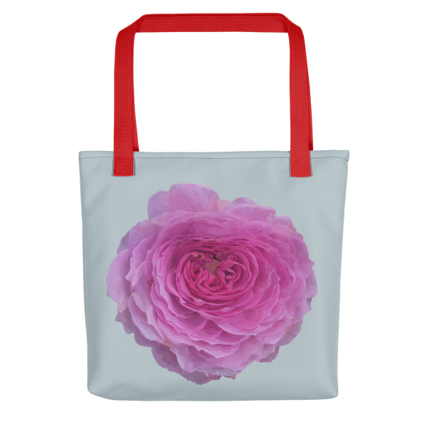 The Audrey Rose - Chalk Grey - Tote bag-Tiny Potager-Red-Tiny Potager