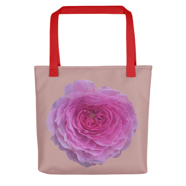 The Audrey Rose - Dusky Rose - Tote bag-Tiny Potager-Red-Tiny Potager