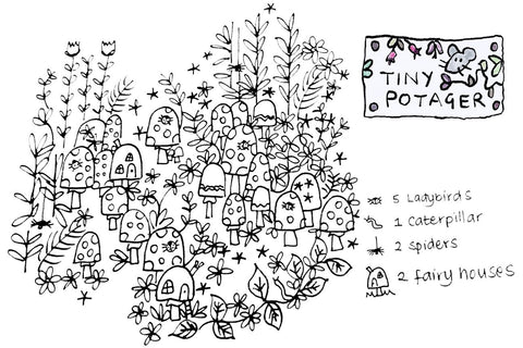 Free - Enchanted Mushroom Grove Colouring-In Sheet-Download-Tiny Potager-Tiny Potager