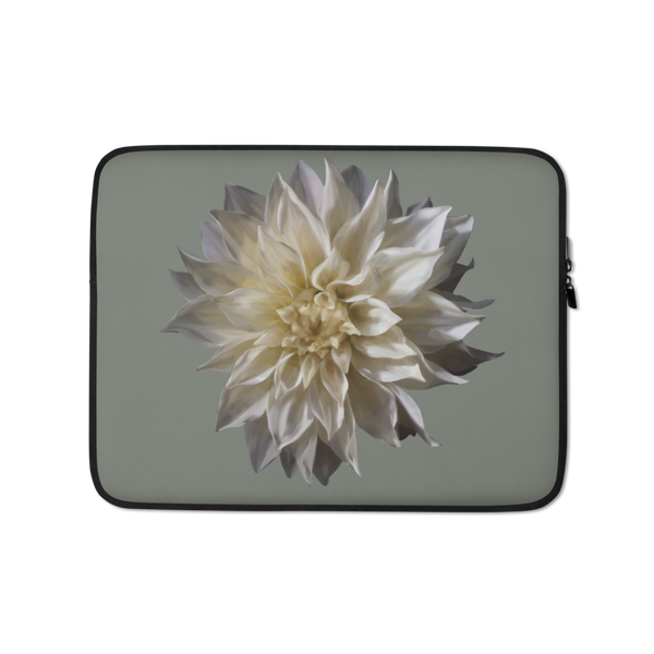Dahlia - Forest Green Laptop Sleeve-Tiny Potager-13 in-Tiny Potager