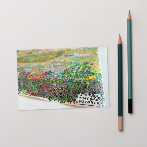 Autumn Garden - Tiny Potager Logo Postcard-Tiny Potager-Tiny Potager
