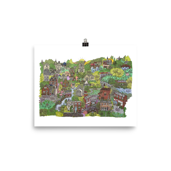 Cambridge in Springtime - Poster-Tiny Potager-8×10-Tiny Potager