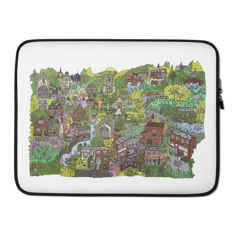 Cambridge in Springtime - Laptop Sleeve-Tiny Potager-15 in-Tiny Potager