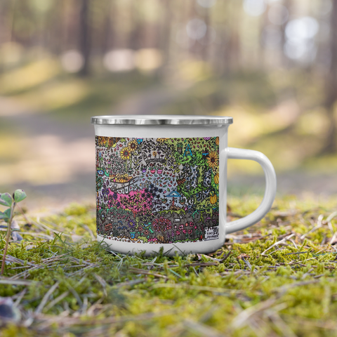 Autumn Garden - Enamel Mug-Tiny Potager-Tiny Potager