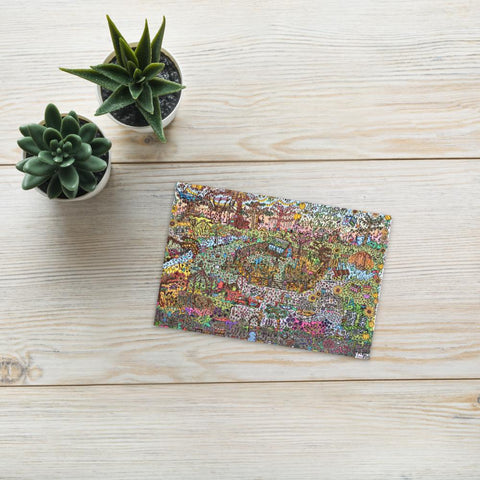 Autumn Garden - Full Colour Print Postcard-Tiny Potager-Tiny Potager