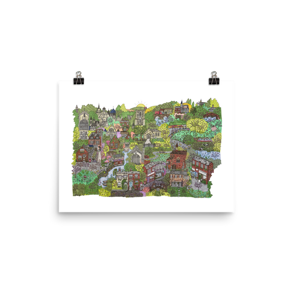 Cambridge in Springtime - Poster-Tiny Potager-12×16-Tiny Potager