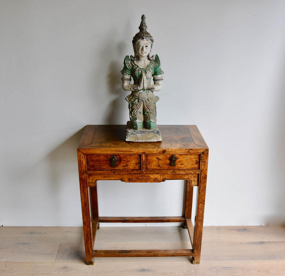 Antique Hand-Carved Buddha Statue