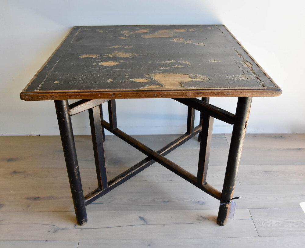 Authentic Chinese Shandong Province Elm Square Folding Table