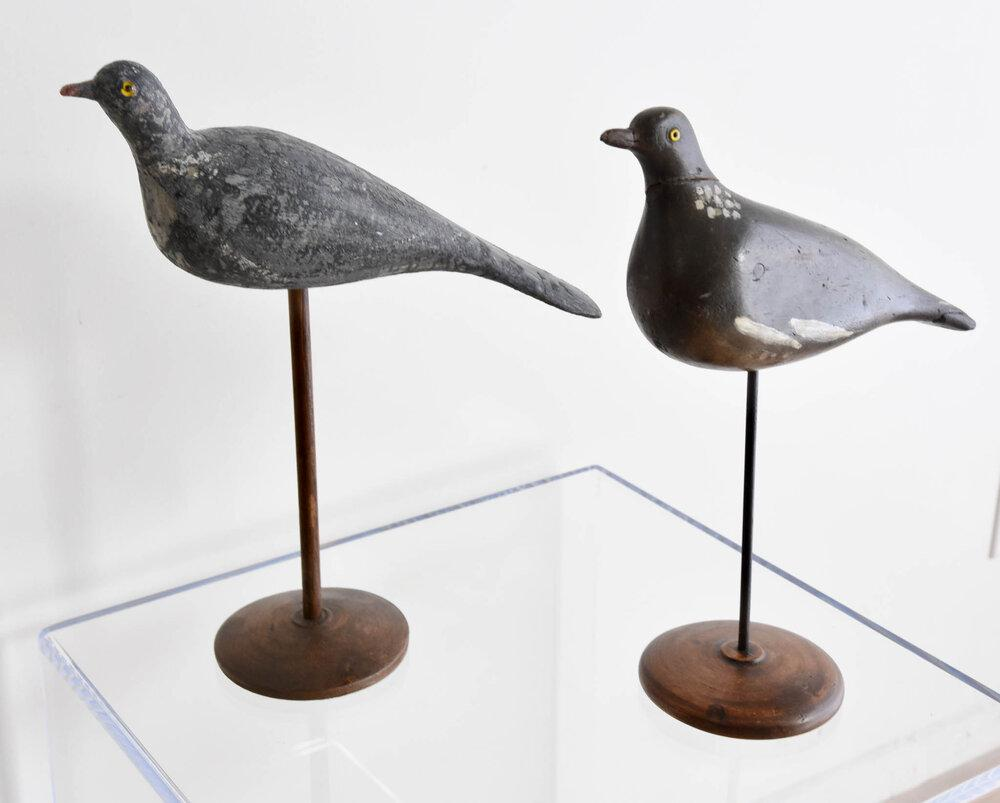 Vintage Hand Carved and Hand Painted Pigeon Decoy (Muted)