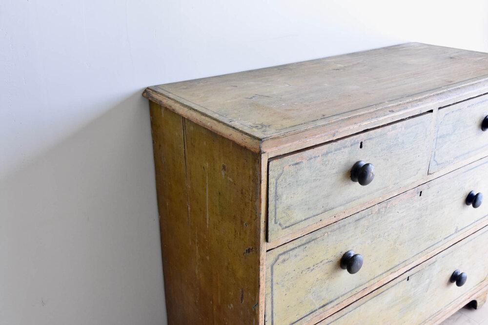 Hand Painted Regency Chest of Drawers