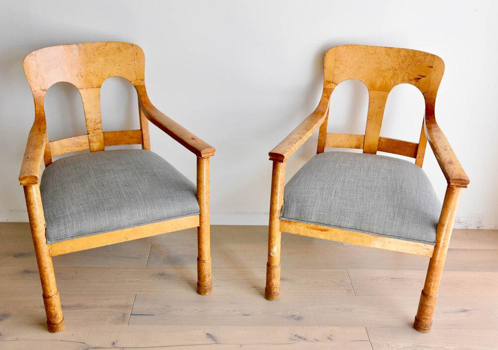 Pair of 9th Century Biedermeier Arm Chairs