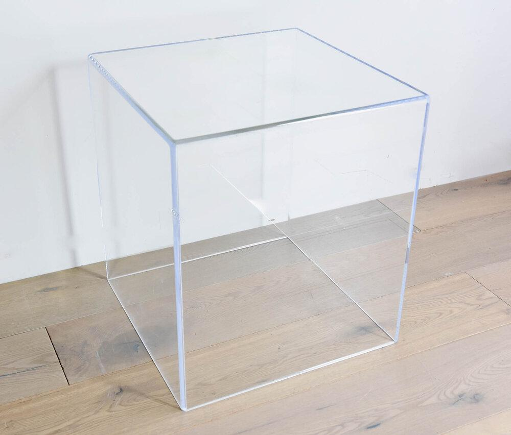 Custom Acrylic Side Table