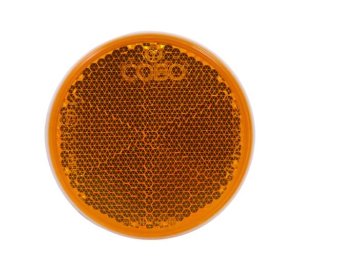 ORANGE REFLEX REFLECTOR D57 W/TAPE