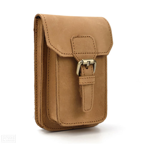 Grain Cow Leather Mini Waist Bag