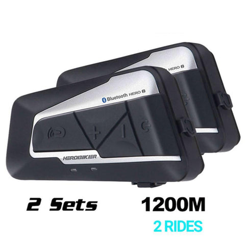 HEROBIKER 1200M Bluetooth Intercom Motorcycle Helmet